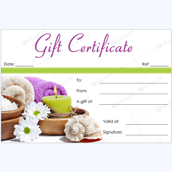Salon Gift Certificates Templates 50 Spa Gift Certificate Designs to Try This Season
