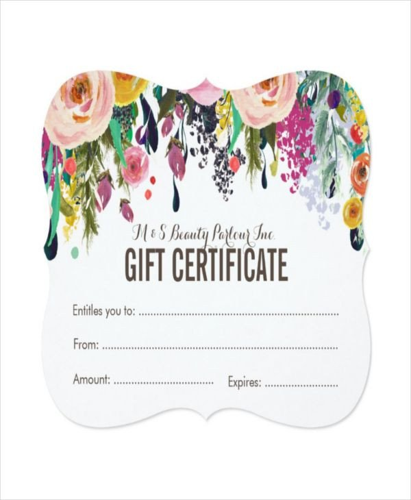 Salon Gift Certificates Templates Best 25 Gift Certificate Templates Ideas On Pinterest
