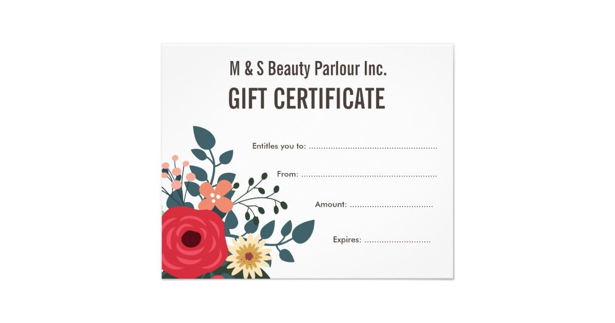Salon Gift Certificates Templates Hair Beauty Salon Gift Certificate Template Flyer