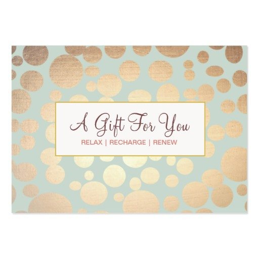 Salon Gift Certificates Templates Salon and Spa Faux Gold Leaf Look Gift Certificate