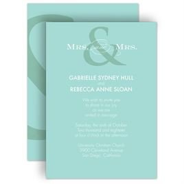 Same Sex Wedding Invitations Gay & Same Wedding Invitations