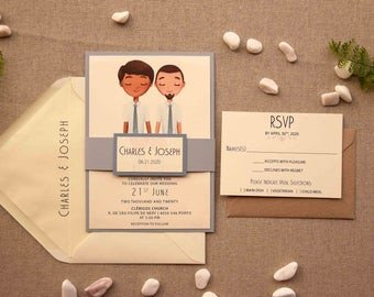 Same Sex Wedding Invitations Gay Wedding Invite