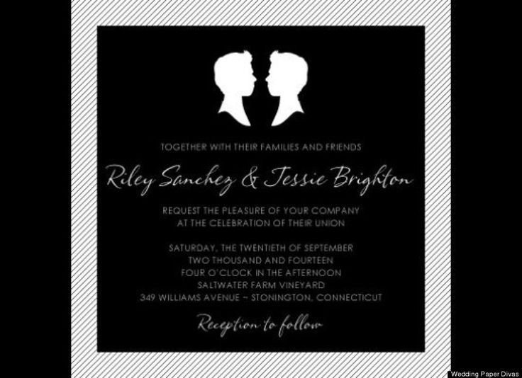 Same Sex Wedding Invitations Look 12 Beyond Lovely Same Wedding Invites