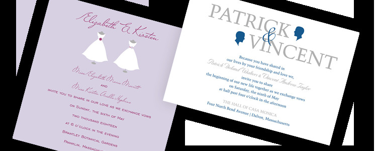 Same Sex Wedding Invitations Same Wedding Invitations by Invitationconsultants