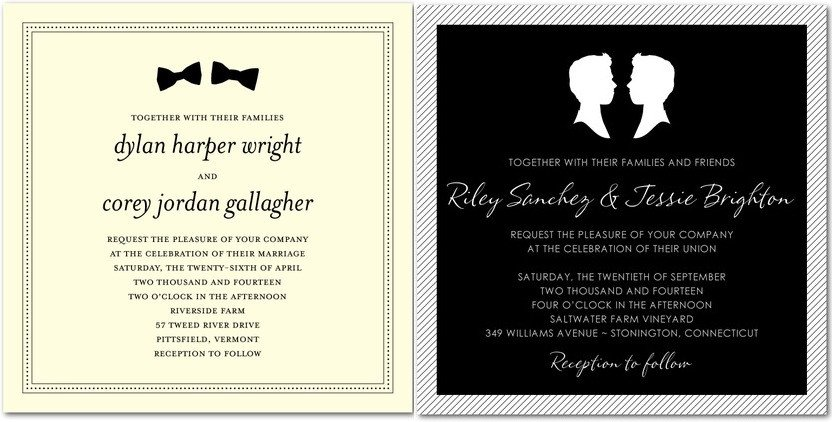 Same Sex Wedding Invitations Wedding Paper Divas Launches Lgbt Wedding Invitation