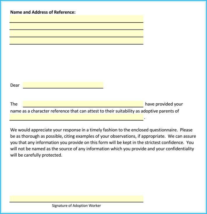 Sample Adoption Reference Letter Adoption Reference Letter Sample Letters and Examples