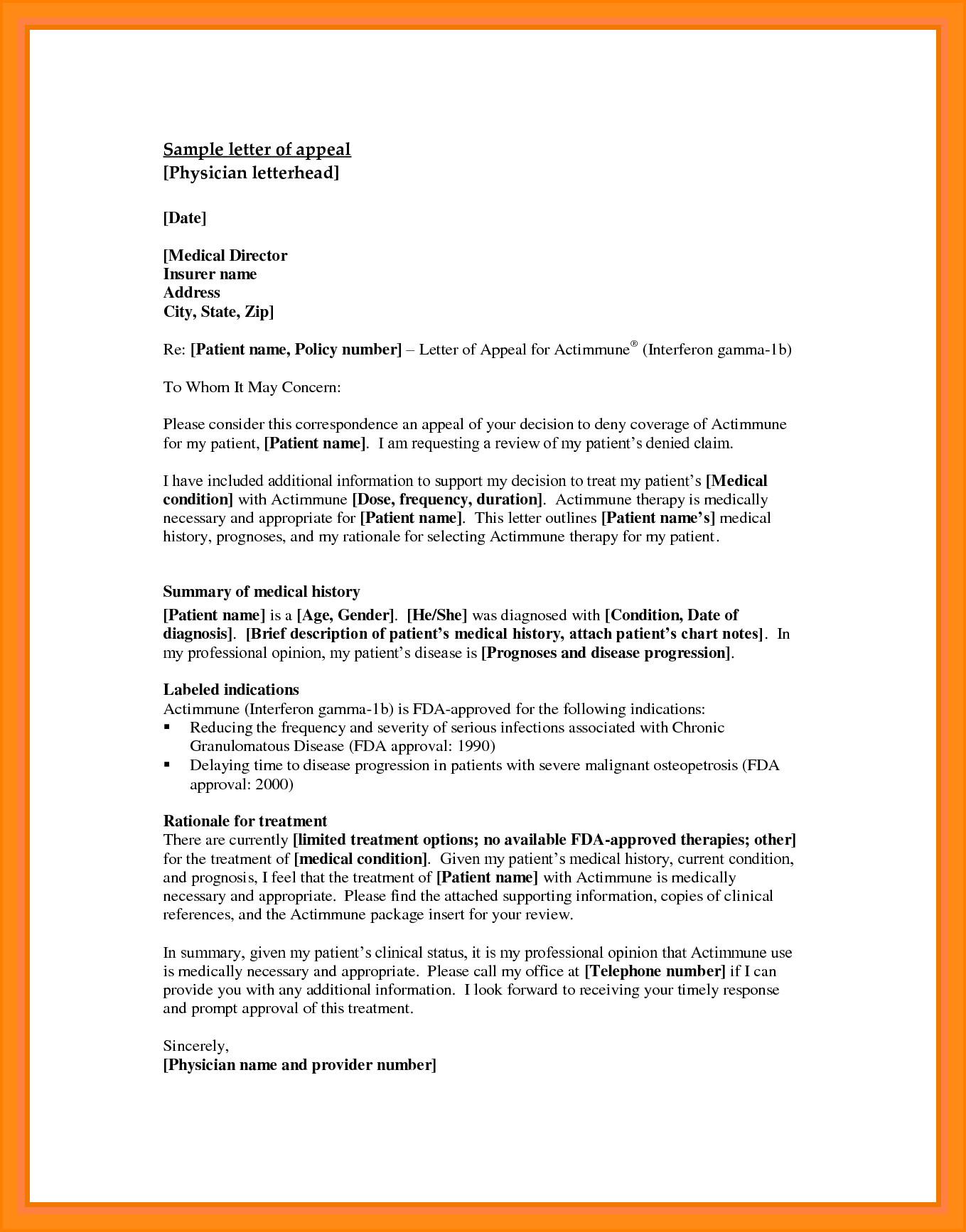 Sample Appeal Letter format 10 Appeals Letter Sample