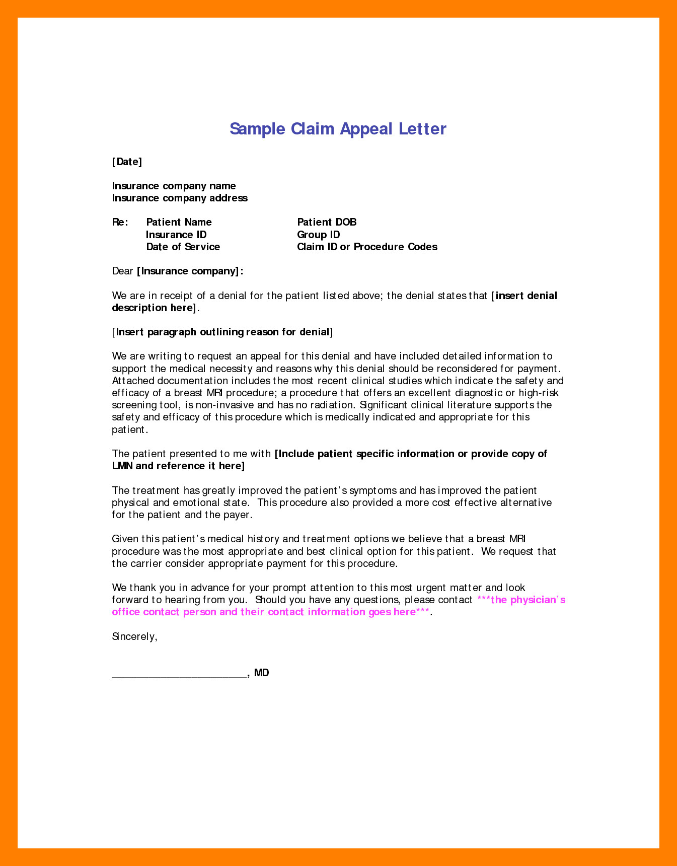Sample Appeal Letter format 6 Sample Letter Of Appeal for Reconsideration