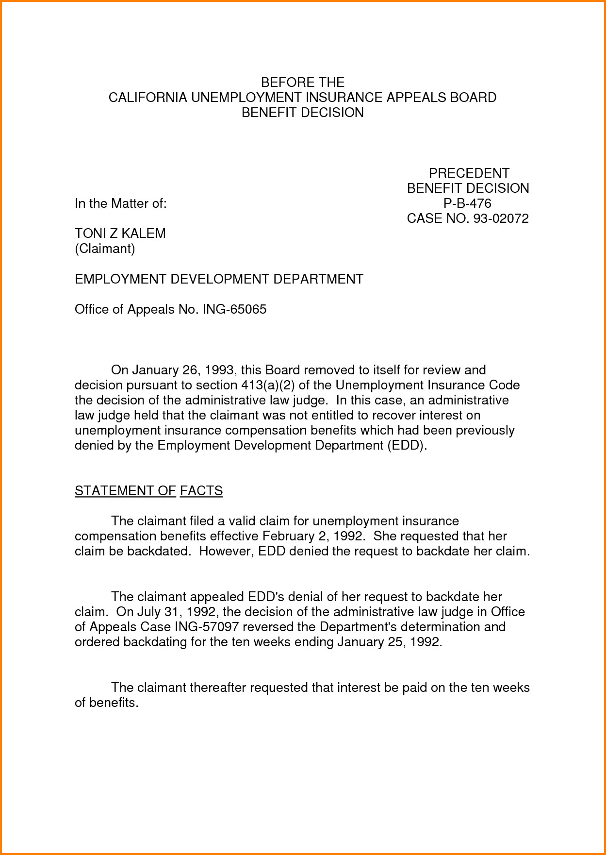 Sample Appeal Letter format 8 Sample Appeal Letter for Unemployment Denial