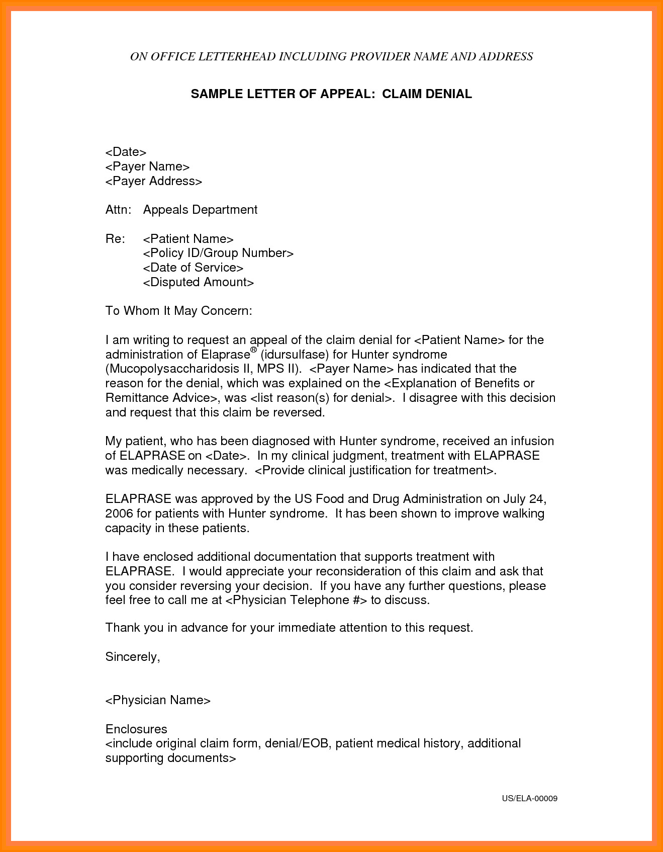 Sample Appeal Letter format 9 Sample Of Appeal Letter for Reconsideration