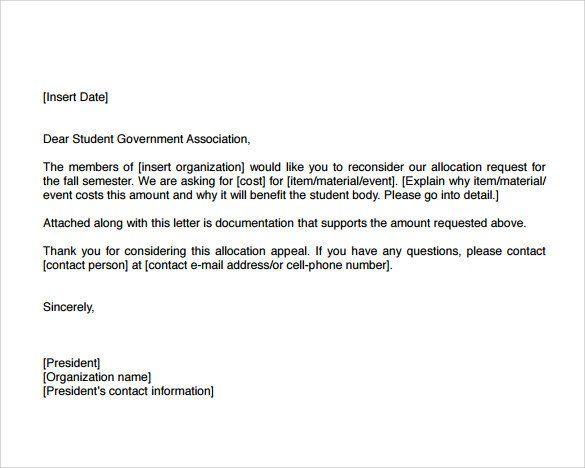 Sample Appeal Letter format Sample Example Of Appeal Letter 12 Download Documents