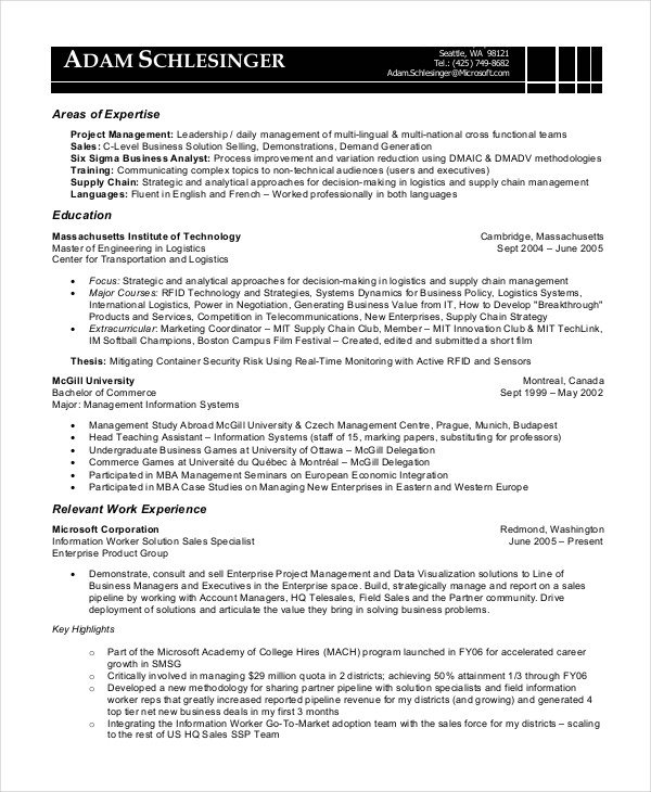 Sample Business Analyst Resume 8 Business Analyst Resumes Free Sample Example format