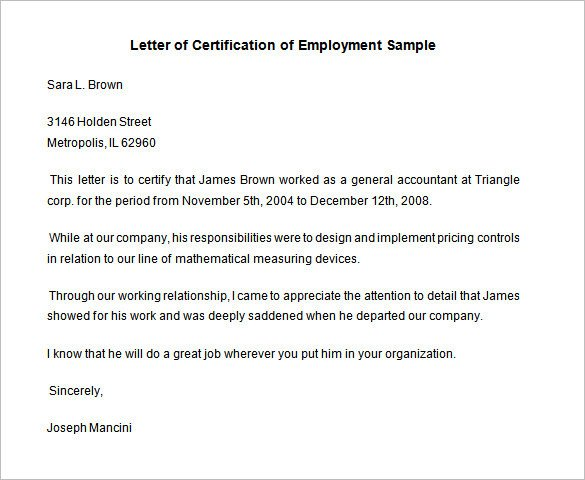 Sample Certificate Of Employment 40 Employment Certificates Pdf Doc