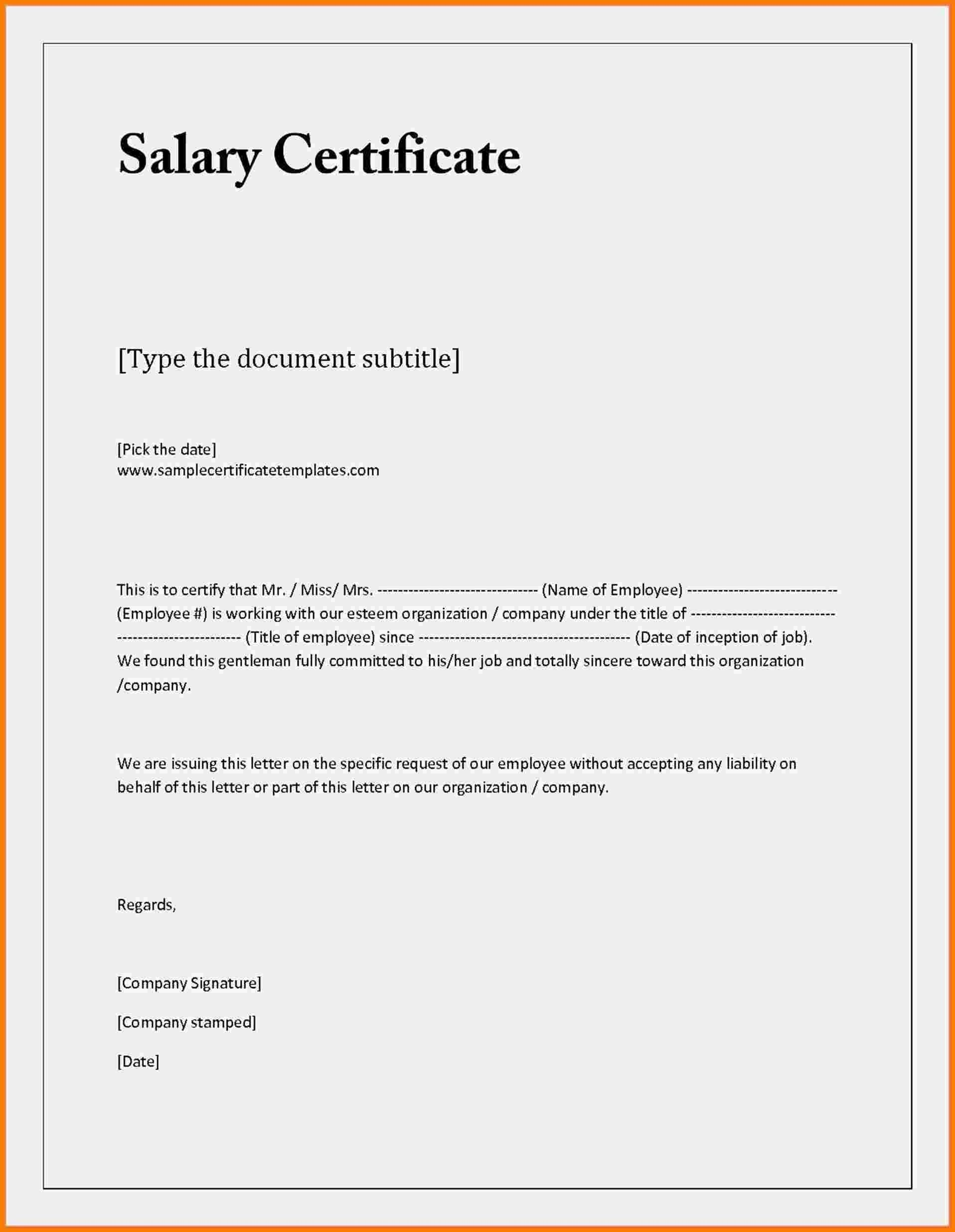 Sample Certificate Of Employment Valid Sample Letter Request for Certificate Employment
