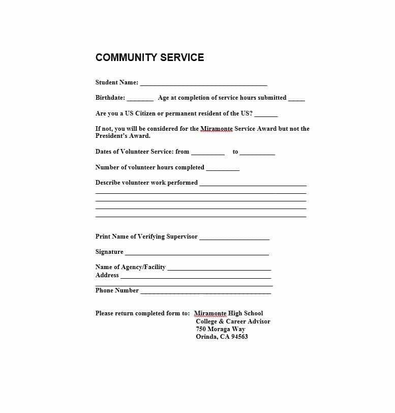 Sample Community Service Letter Munity Service Letter 40 Templates [ Pletion
