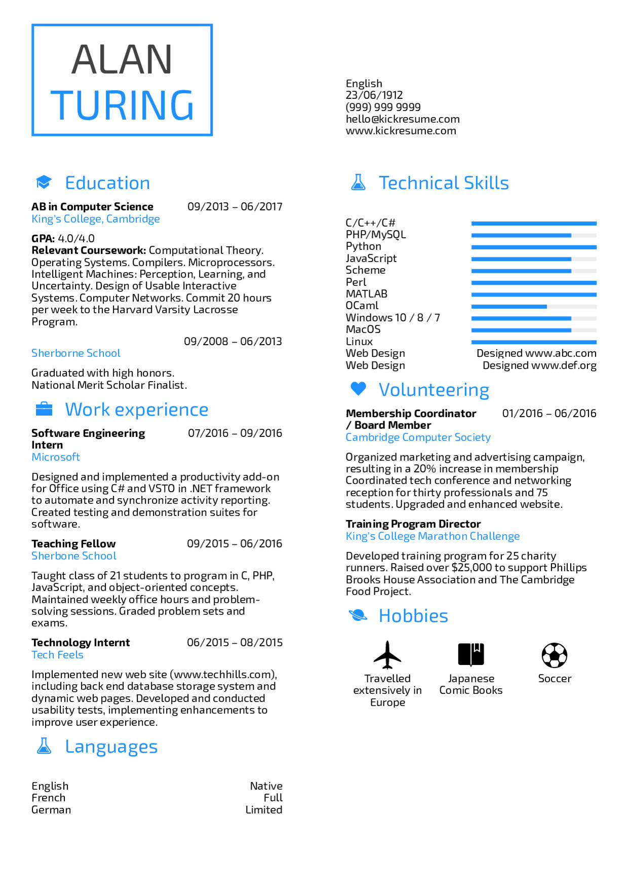 Sample Computer Science Resume Resume Examples by Real People Student Resume Puter
