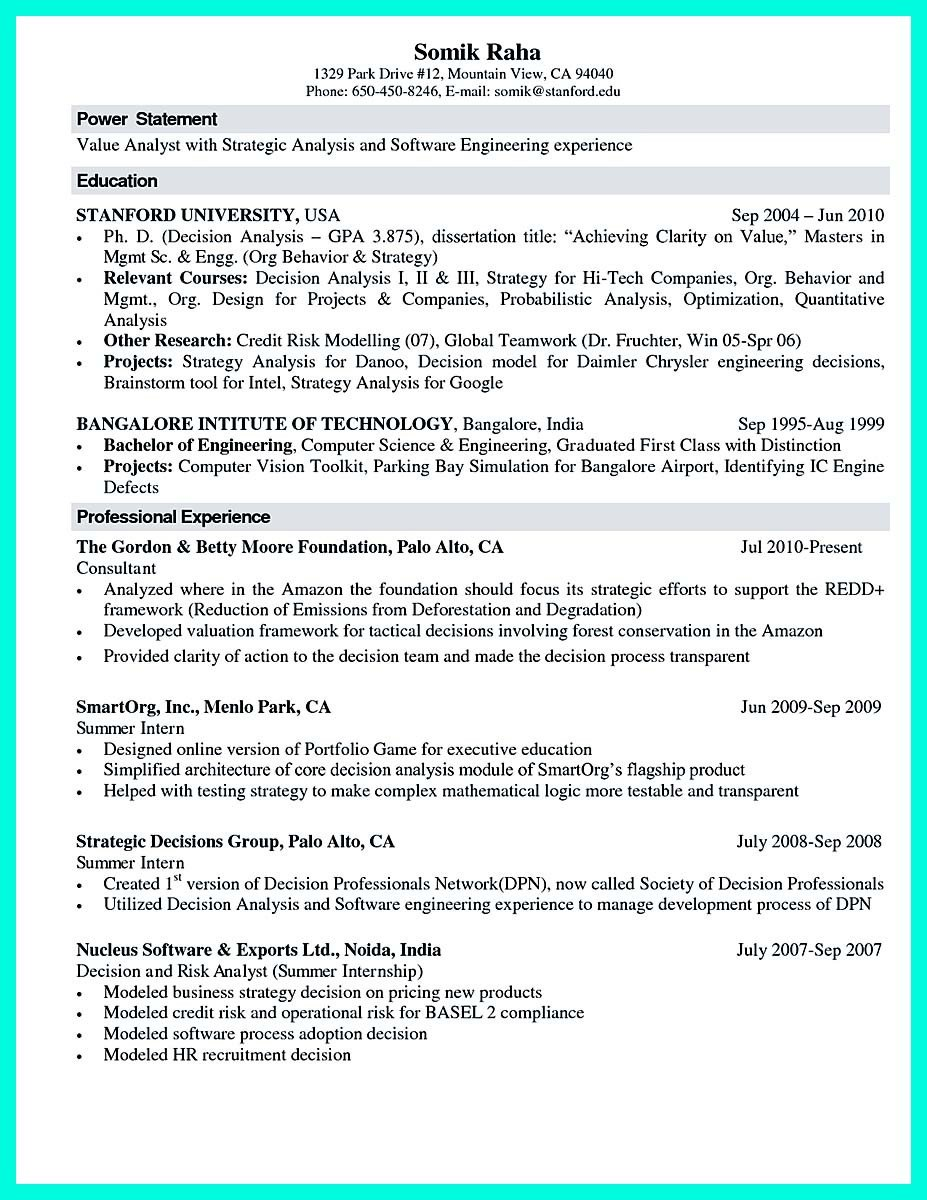 Sample Computer Science Resume the Best Puter Science Resume Sample Collection