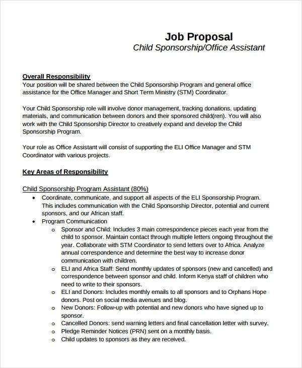Sample Job Proposal Template 12 Job Proposal Examples Pdf Doc