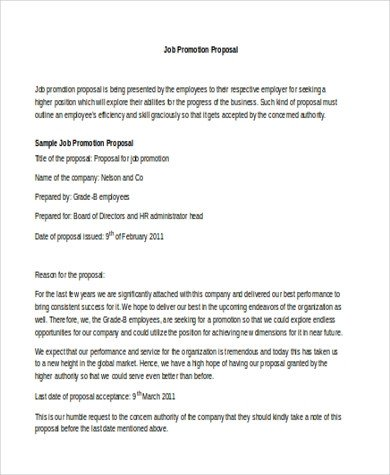 Sample Job Proposal Template Job Proposal Sample 8 Free Documents In Word Pdf
