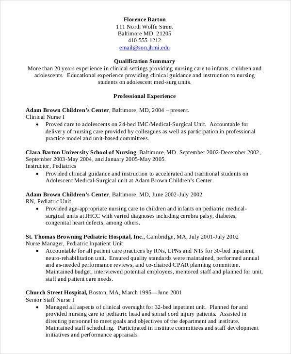 Sample Nursing Student Resume Nursing Student Resume Clinical Experience