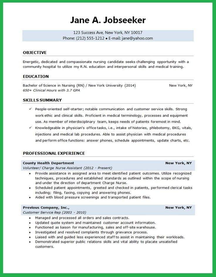 Sample Nursing Student Resume Nursing Student Resume