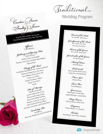 Sample Of Wedding Programme Wedding Program Wording