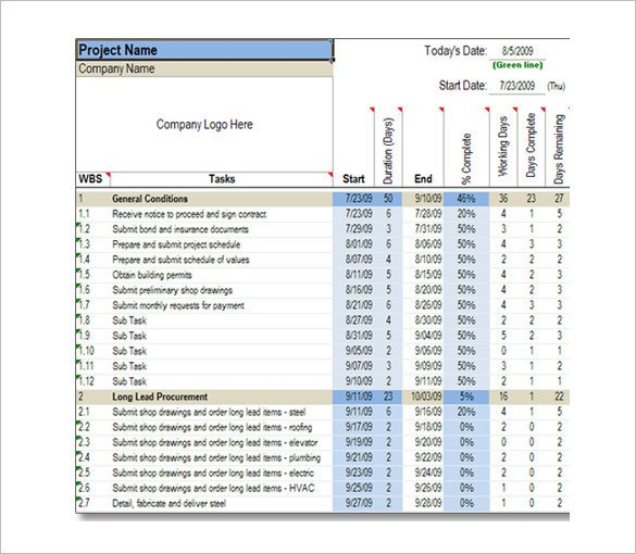 Sample Residential Construction Schedule 11 Construction Schedule Templates Pdf Doc
