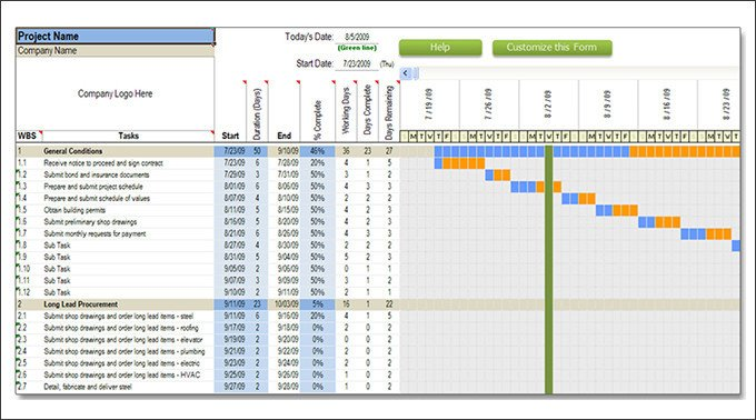 Sample Residential Construction Schedule Construction Schedule Templates 13 Free Word Excel