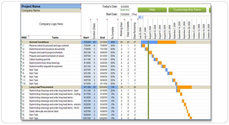 Sample Residential Construction Schedule Download Gantt Chart C Program