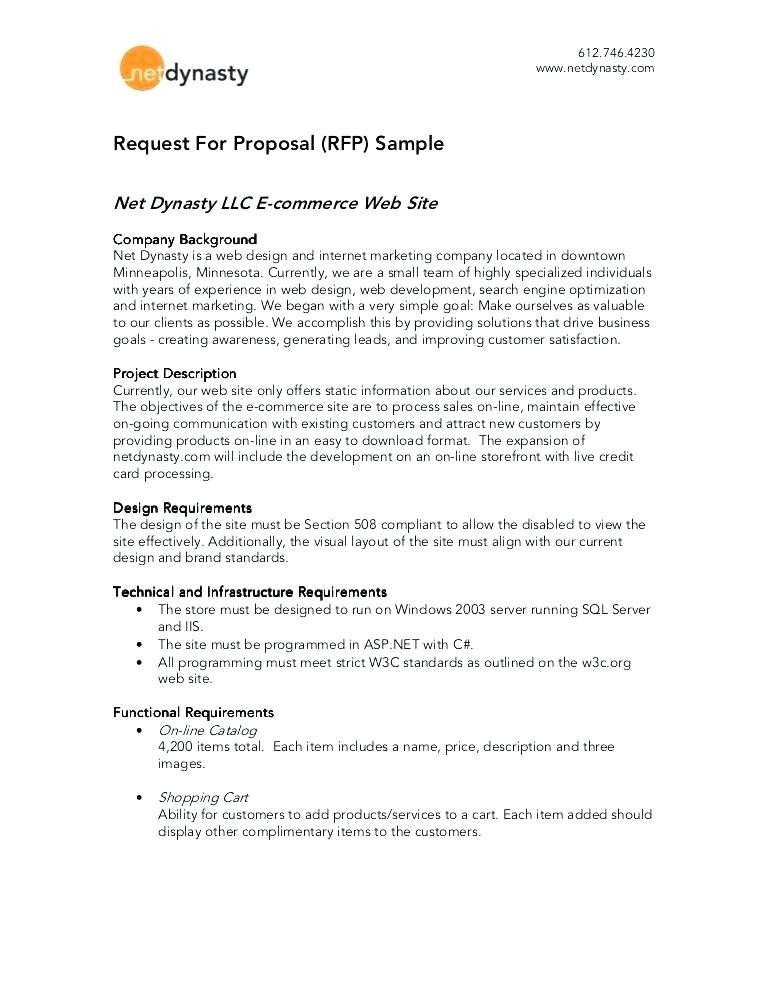 Sample Rfp Response Letter 12 13 Rfp format Template
