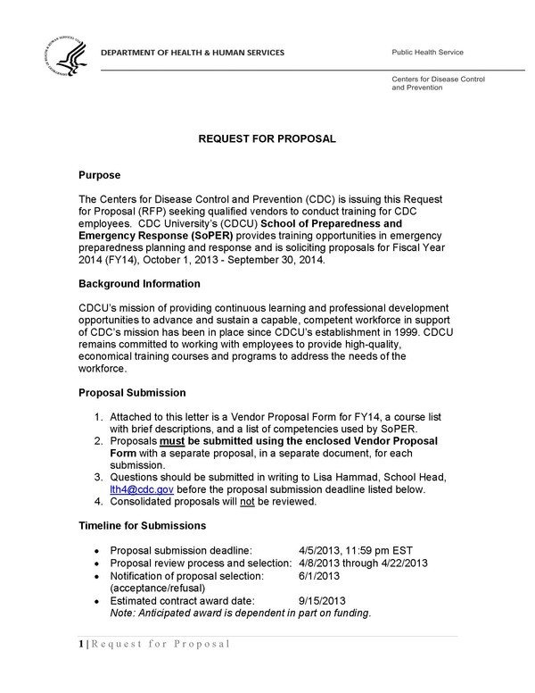 Sample Rfp Response Letter 28 Of Rfp Proposal Letter Template