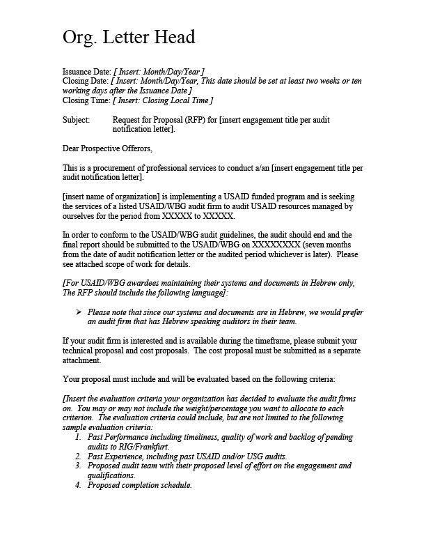 Sample Rfp Response Letter attachment 8 A Sample Rfp Cover Letter