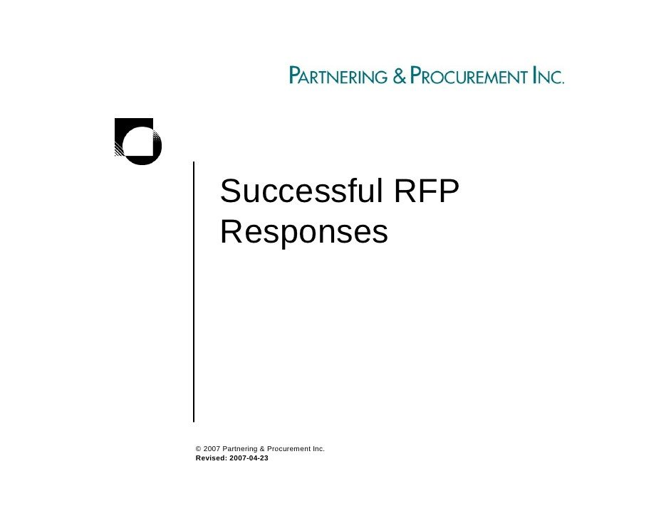 Sample Rfp Response Letter Successful Rfp Responses