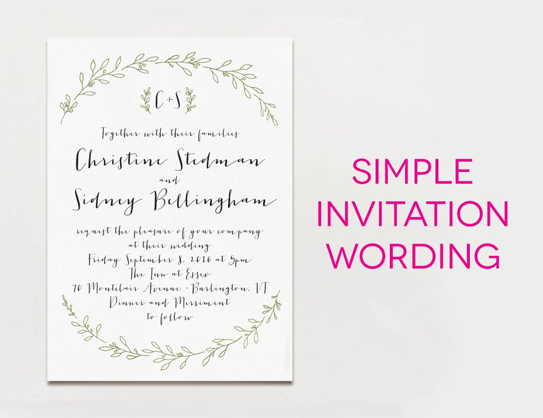 Sample Wedding Invitations Templates 15 Wedding Invitation Wording Samples From Traditional to Fun
