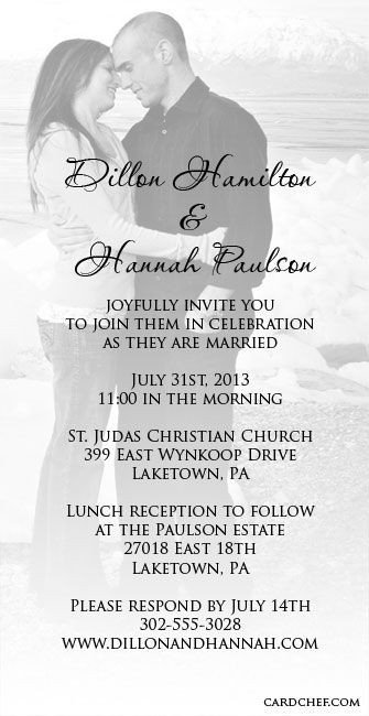 Sample Wedding Invitations Templates 17 Best Images About Invitations On Pinterest