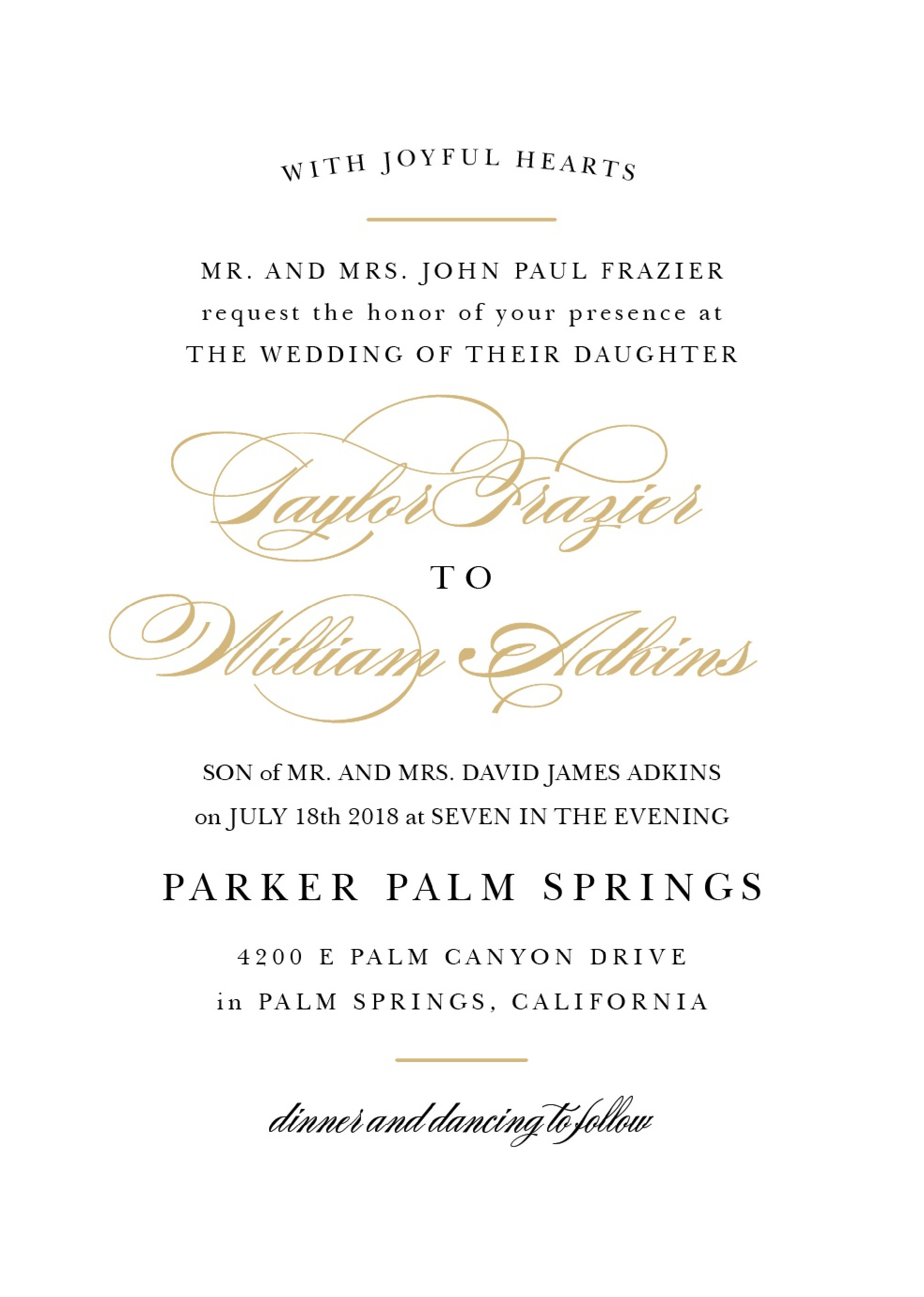 Sample Wedding Invitations Templates Wedding Invitation Wording Samples