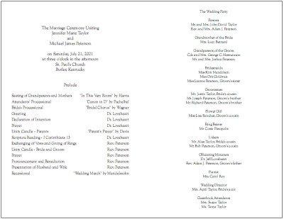 Sample Wedding Program Template 8 Best Of Free Printable Church Program Design