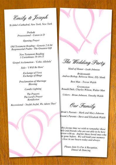 Sample Wedding Program Template Free Sample Wedding Program Template