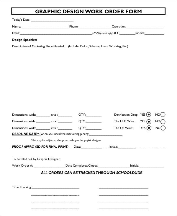 Sample Work order form Sample order form 10 Examples In Pdf Word