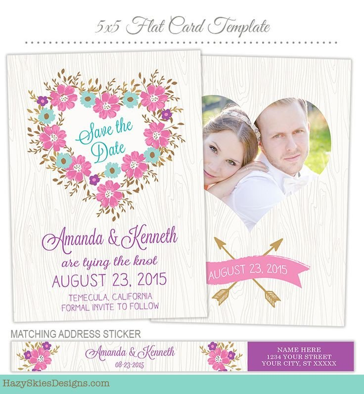 Save the Date Photoshop Templates 17 Best Images About Wedding & Engagement Templates for