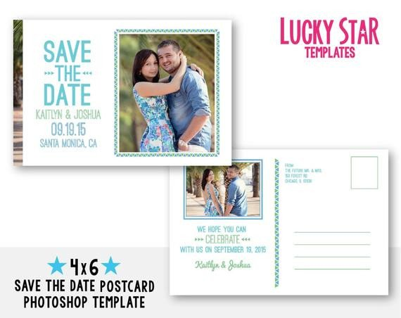 Save the Date Photoshop Templates Items Similar to Customizable Digital Wedding Save the