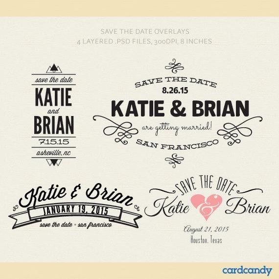 Save the Date Photoshop Templates Items Similar to Digital Save the Date Card Overlays Diy