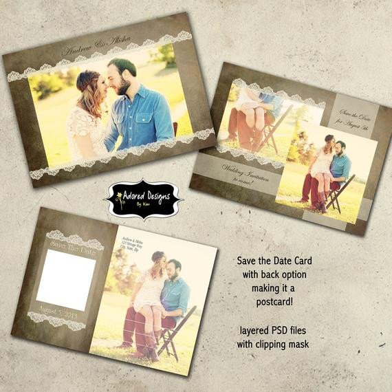 Save the Date Photoshop Templates Items Similar to Save the Date Instant Download