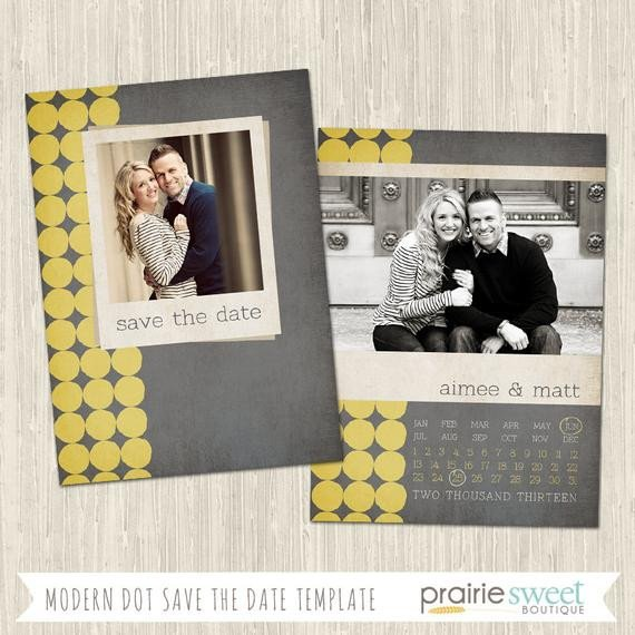 Save the Date Photoshop Templates Modern Dot Save the Date Shop Template for Professional