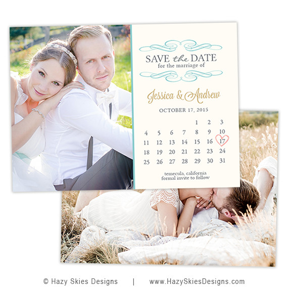 Save the Date Photoshop Templates Save the Date Card Template