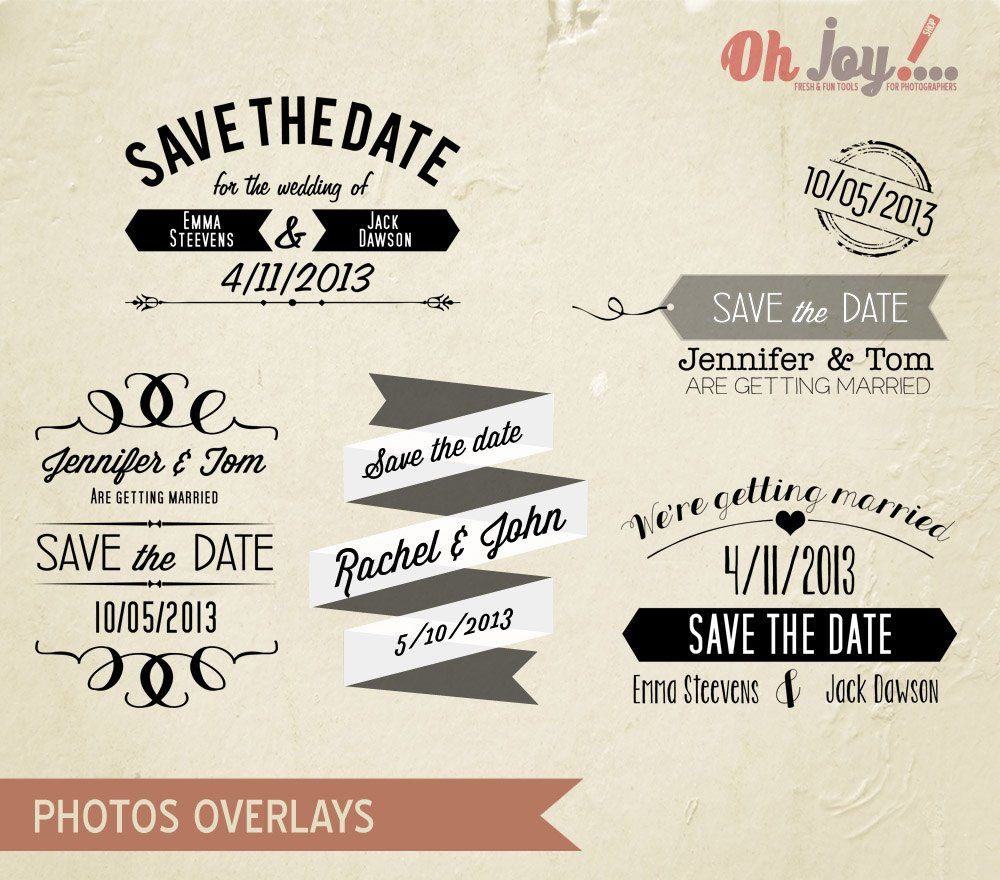 Save the Date Photoshop Templates Save the Date Cards Templates for Weddings