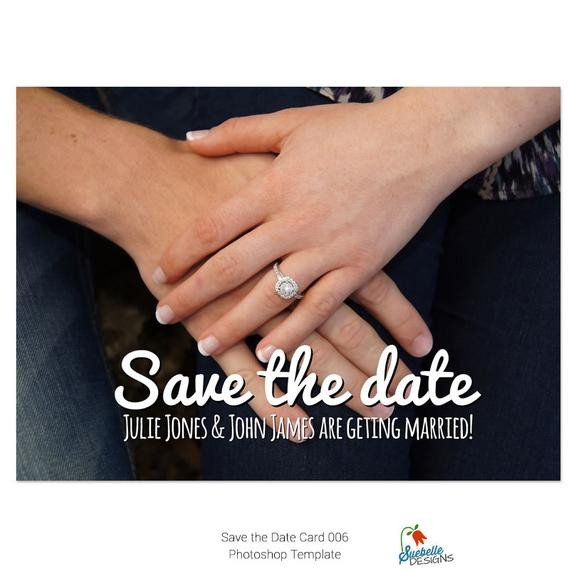 Save the Date Photoshop Templates Save the Date Shop Template 006 From Suebelledesigns