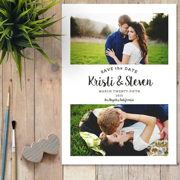 Save the Date Photoshop Templates Save the Date Shop Template Wedding Templates