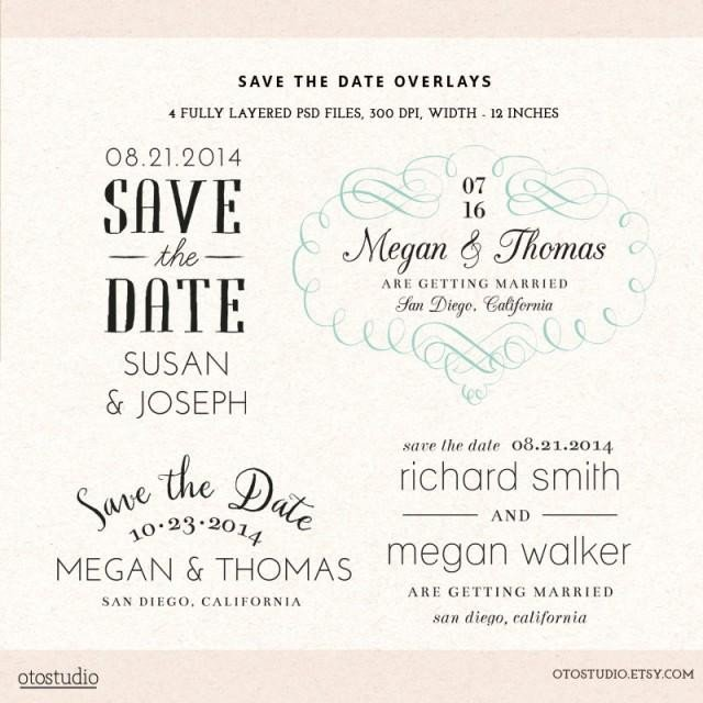 Save the Date Photoshop Templates Shop Save the Date Overlays Wedding Cards Psd