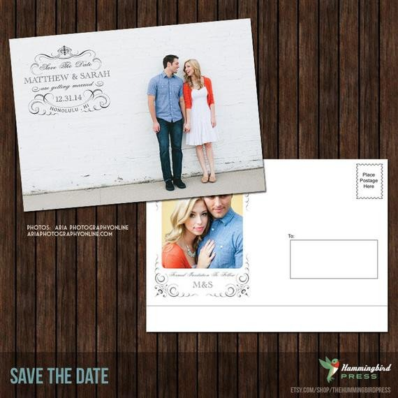 Save the Date Postcard Templates 5x7 Save the Date Postcard Template S24